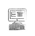 figure computer technology with electronic vector image vector image
