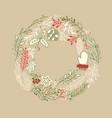 filigree foliated wreath design concept vector image vector image