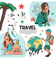 flat summer vacation composition vector image