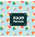 food pattern ice cream cone background imag vector image vector image