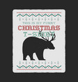 funny christmas graphic print tee design for ugly vector image vector image