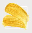 gold hand drawn paint brush stroke vector image