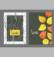 golden leaves covers vector image vector image