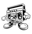 graffiti boombox character vector image
