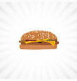hamburger with white background vector image