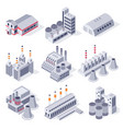 isometric factory buildings industrial power vector image