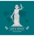 Law and justice design vector image vector image