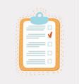 line icon checklist with mark vector image