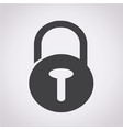 lock security icon vector image