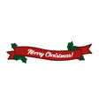 merry christmas quote as logo or header vector image vector image