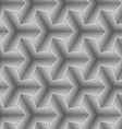 Monochrome gradually striped pointy tetrapods vector image vector image