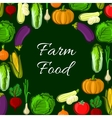 Organic farm vegetables poster vector image vector image