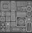 ornamental scandinavian rectangles seamless vector image vector image