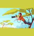 paparazzo at work composition vector image