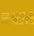 passive income banner 10 icons conceptaffiliate vector image vector image