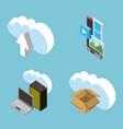 people cloud computing storage vector image vector image