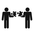 puzzle in man hand icon simple style vector image vector image