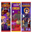 retro big top circus show animals and tamers vector image vector image