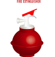 Round fire extinguisher vector image