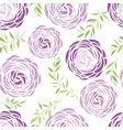 seamless pattern with purple flowers vector image vector image