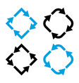 set different arrows black and blue colors vector image