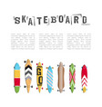 set skateboard collection vector image vector image