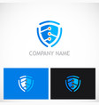 shield guard technology logo vector image vector image