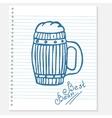 sketch of a beer vector image vector image