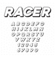 speed racing sport italic font with letters vector image