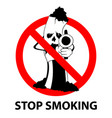 stop smoking no tobacco day prohibition sign vector image vector image