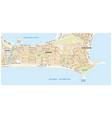 street map ipanema rio de janeiro vector image vector image
