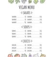 vegan menu template