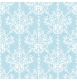 Vintage Light Blue Branches Damask Seamless vector image
