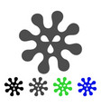 virus flat icon vector image vector image