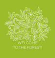 welcome to forest line art banner concept vector image vector image