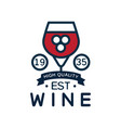 wine label est 1935 high quality product logo vector image vector image