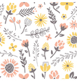 Field flowers pattern vector | Price: 1 Credit (USD $1)
