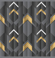 abstract geometric decor stripes black and gold vector image vector image