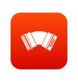 accordion icon digital red vector image vector image