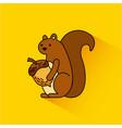 autumn squirrel acorn animal season vector image