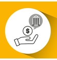 bank concept safe hand money icon vector image vector image