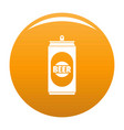 beer can icon orange vector image