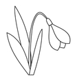 Bell flower icon outline style vector image