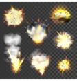 Big explosions set vector image vector image