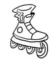 Black and white roller blade