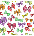 bow tie seamless pattern cartoon colorful vector image