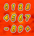 bright colorful comics numbers with halftone vector image