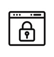 browser with lock icon vector image vector image