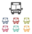 Bus icons set vector image vector image
