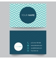 Business card template blue and white pattern vector image vector image